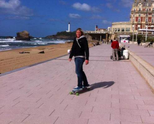 Skateboarden in Biarritz